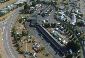 Aerial view of Te Anau TOP 10 Holiday Park